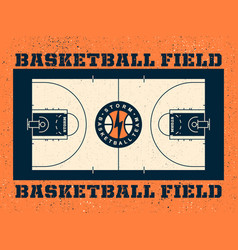 modern professional field for basketball in vector image