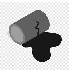 oil is spilling from the barrel isometric icon vector image