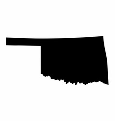 Oklahoma state silhouette map vector