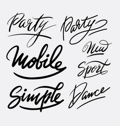 party and dance hand written typography vector image