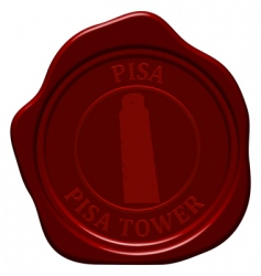 Pisa Tower wax seal vector image vector image