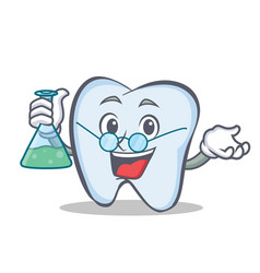 Professor tooth character cartoon style vector