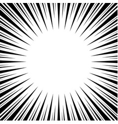 Radial speed lines abstract background vector