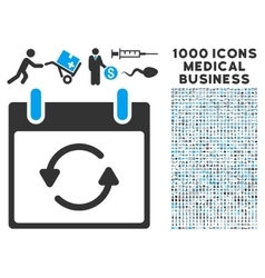Refresh calendar day icon with 1000 medical vector