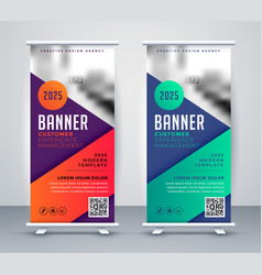 rollup presentation banner for your business vector image