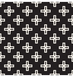 Seamless black and white simple cross vector