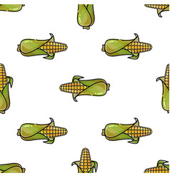 seamless pattern with corn background vector image