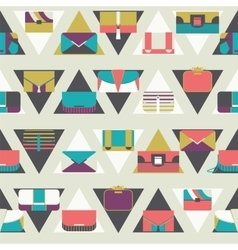 Seamless pattern with fashion bags and clutches in vector