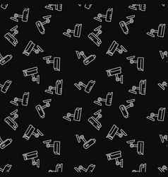 Security camera dark seamless pattern vector