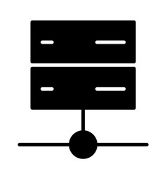 Server icon simple minimal 96x96 pictogram vector