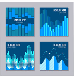 Set 4 creative covers with infographic elements vector