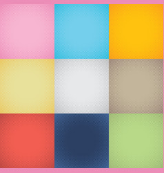 set of gradient halftone background vector image