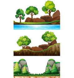Set of nature landscape vector