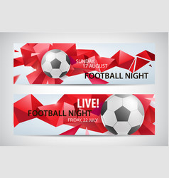 Set sport football banners faceted vector