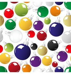 shiny color christmas decoration seamless pattern vector image vector image