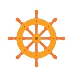 Ship steering wheel sign icon vector