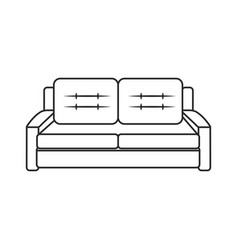 sofa furniture modern style outline vector image