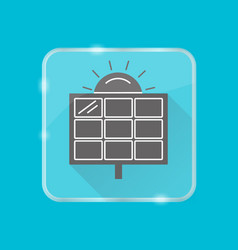 solar panel silhouette icon in flat style on vector image