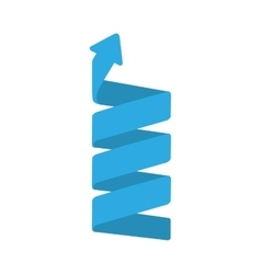 Spiral blue arrow vector