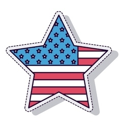 Star american isolated icon vector