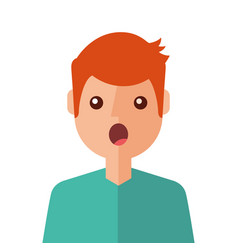 Surprised young man avatar character vector