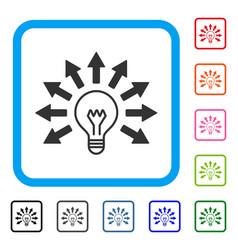 Ultraviolet lamp framed icon vector
