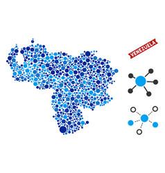 Venezuela map connections collage vector