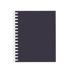 Wired notebook icon vector