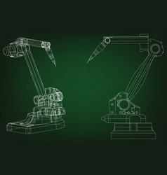 3d model of a welding robot vector image