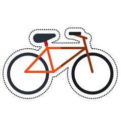 cartoon bicycle recreation transport icon vector image