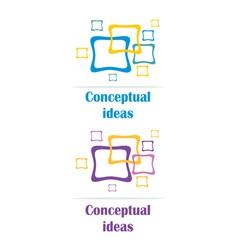 conceptual ideas logo vector image vector image