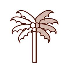 Shadow beach palm cartoon vector