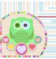 flower and textile owl vector image