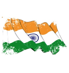 India flag grunge vector