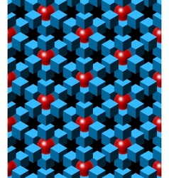 abstract blue cubes vector image