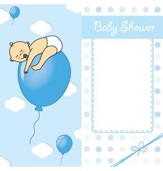 Baby boy birth car vector