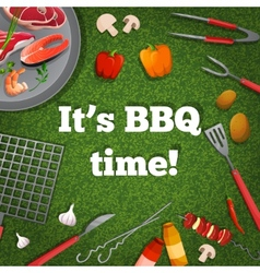 Bbq picnic poster vector image vector image