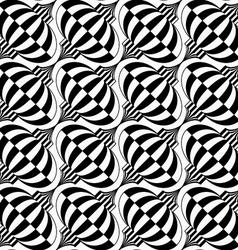 Black and white diagonal checkered bulbs vector image