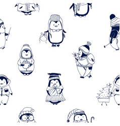 childish seamless pattern with cute little baby vector image vector image