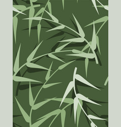 seamless green spring background with leaves vector image