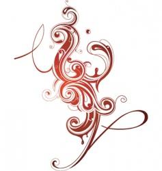 swirl design elements vector image vector image