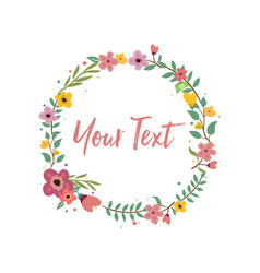 wedding invitation floral logo template vector image vector image