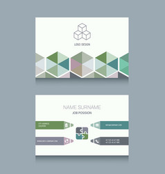 business card template business card template vector image vector image