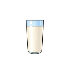 cartoon glass cup of milk isolated vector image vector image