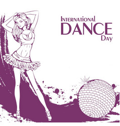 dance day club dance vector image vector image