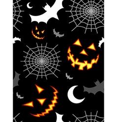 Halloween terror background pattern vector image
