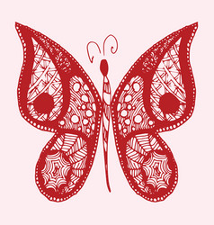 hand drawn sketch style butterfly retro hand vector image vector image