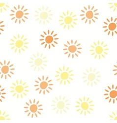 pattern with sun symbols vector image vector image