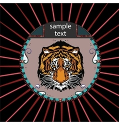 Portrait of a tiger vector image