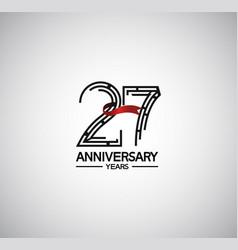 27 years anniversary logotype flat design vector